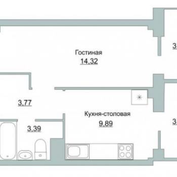 ЖК Приоритет (Псков) – планировка №3