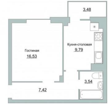 ЖК Приоритет (Псков) – планировка №2