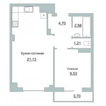 ЖК Приоритет (Псков) – планировка №1