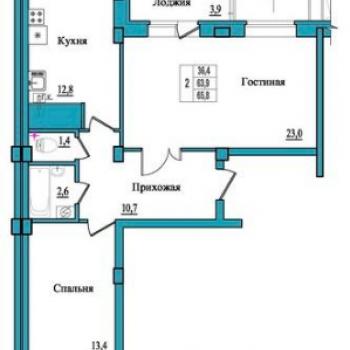 ЖК Балтийский каскад (Псков) – планировка №3
