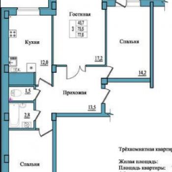 ЖК Балтийский каскад (Псков) – планировка №2