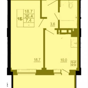 ЖК Спортивный квартал (Псков) – планировка №2