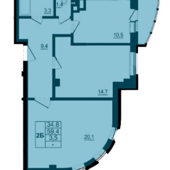 ЖК Спортивный квартал (Псков) – планировка №6