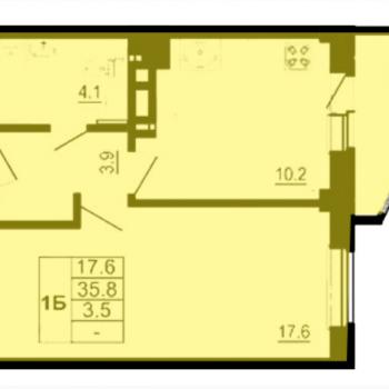 ЖК Спортивный квартал (Псков) – планировка №4