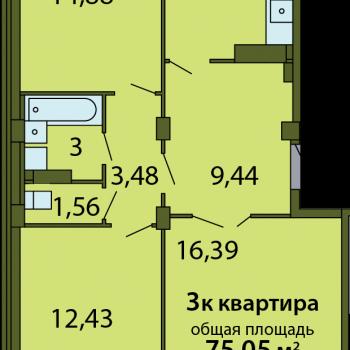 ЖК Родина (Псков) – планировка №19