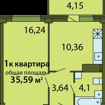 ЖК Родина (Псков) – планировка №6