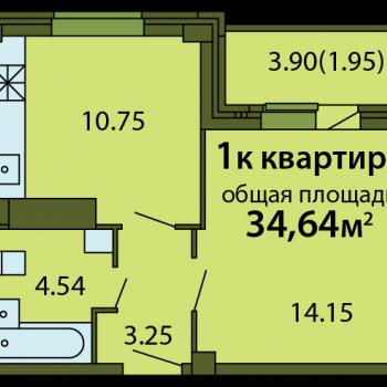ЖК Родина (Псков) – планировка №5