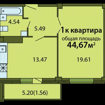 ЖК Родина (Псков) – планировка №3