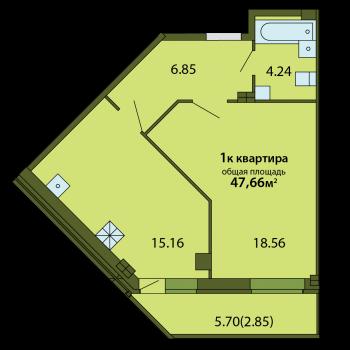 ЖК Родина (Псков) – планировка №2