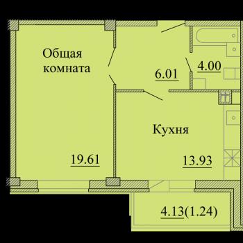 ЖК Родина (Псков) – планировка №1