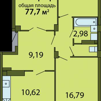ЖК Родина (Псков) – планировка №18