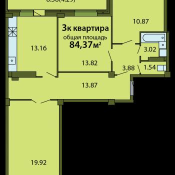 ЖК Родина (Псков) – планировка №17