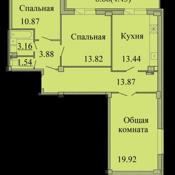 ЖК Родина (Псков) – планировка №15