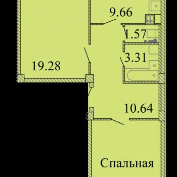 ЖК Родина (Псков) – планировка №12