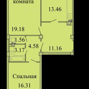 ЖК Родина (Псков) – планировка №11