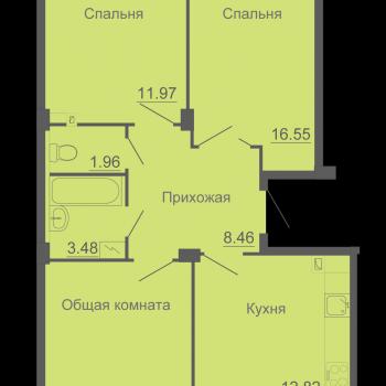 ЖК Околица (Псков) – планировка №4