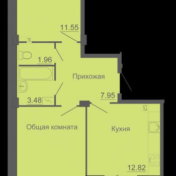 ЖК Околица (Псков) – планировка №2