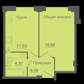 ЖК Околица (Псков) – планировка №1