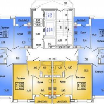 Микрорайон Красный Аксай (Ростов-на-Дону) – планировка №6