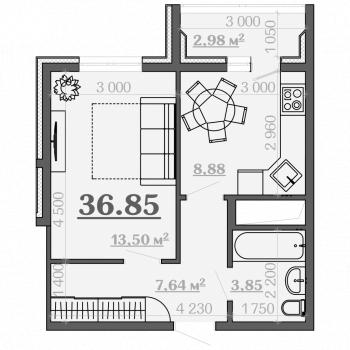 ЖК Дубрава 3 (Рязань) – планировка №3