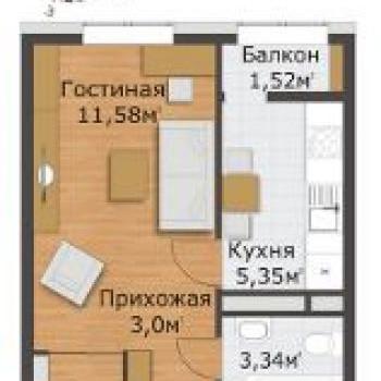 ЖК Северный (Рязань) – планировка №1