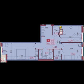 VELLCOM DOM на Ленкома (Рязань) – планировка №7