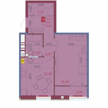 VELLCOM DOM на Московском (Рязань) – планировка №5