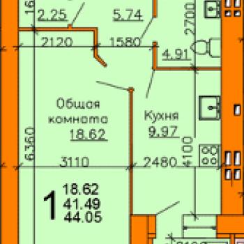 ЖК Донской (Рязань) – планировка №1