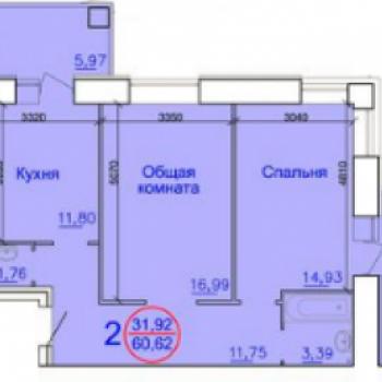Дом по улице Вокзальная (Рязань) – планировка №3