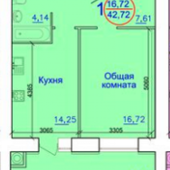 Дом по улице Вокзальная (Рязань) – планировка №1
