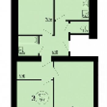 ЖК Аэробус (Рязань) – планировка №2
