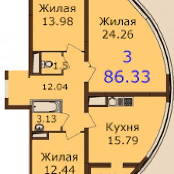 ЖК Паруса (Рязань) – планировка №2
