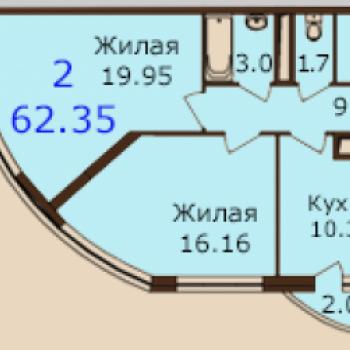 ЖК Паруса (Рязань) – планировка №3