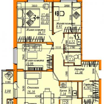 ЖК Триколор (Рязань) – планировка №2