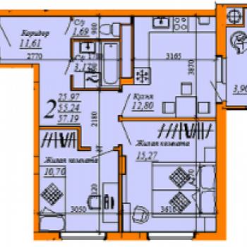 ЖК Триколор (Рязань) – планировка №3