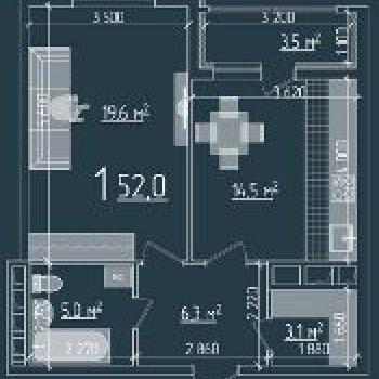Резиденция Ника Парк (Рязань) – планировка №1