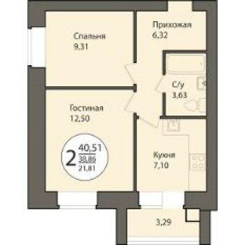 ЖК Времена года (Рязань) – планировка №3