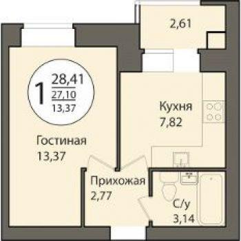 ЖК Времена года (Рязань) – планировка №1