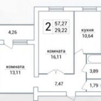 ЖК Яблоко (Самара) – планировка №3