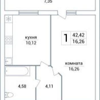 ЖК Яблоко (Самара) – планировка №1