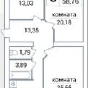 ЖК Яблоко (Самара) – планировка №2