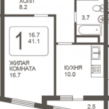 ЖК Парк Победы (Самара) – планировка №1