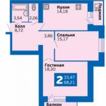 ЭкоГрад Волгарь (Самара) – планировка №3