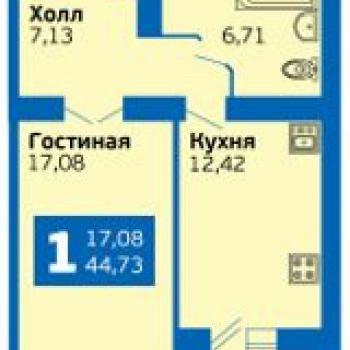 ЭкоГрад Волгарь (Самара) – планировка №1