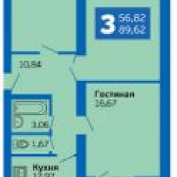 ЭкоГрад Волгарь (Самара) – планировка №2