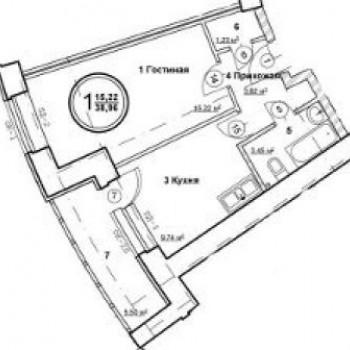 ЖК Госуниверситет (Самара) – планировка №3