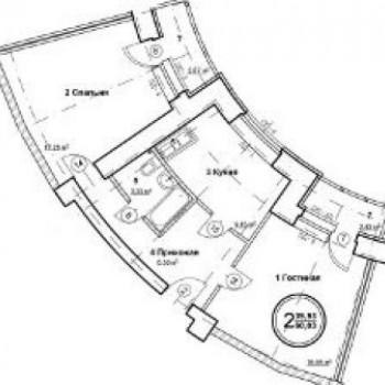 ЖК Госуниверситет (Самара) – планировка №2