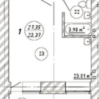 ЖК Изумрудный (Самара) – планировка №1