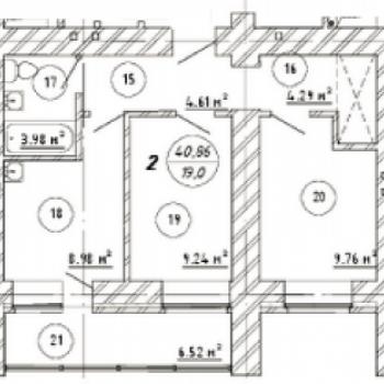 ЖК Изумрудный (Самара) – планировка №5