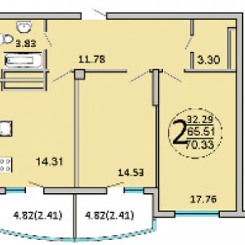ЖК 120 квартал (Самара) – планировка №3